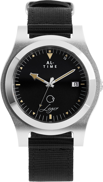 AL Time Watch Silver Front